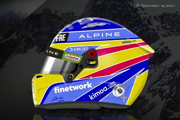 Alonso nos devuelve a su primera era Renault con su casco 2021 - SoyMotor.com