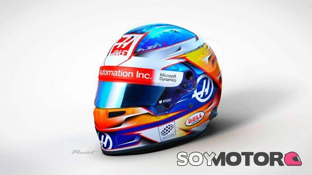 El nuevo casco de Grosjean para 2017 - SoyMotor