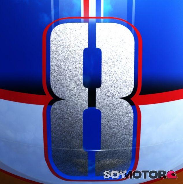 Parte del nuevo casco que lucirá Grosjean en 2017 - SoyMotor