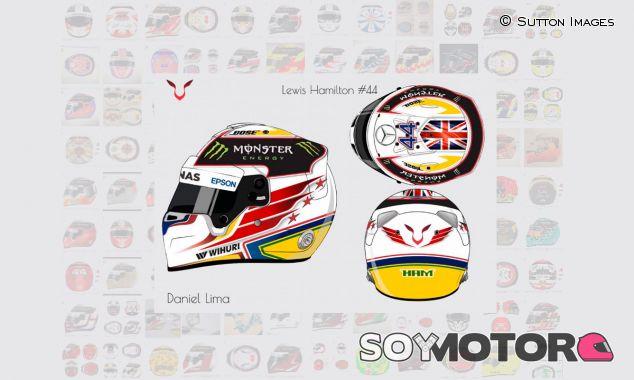 Una de las propuestas de casco que ha recibido Lewis Hamilton - SoyMotor