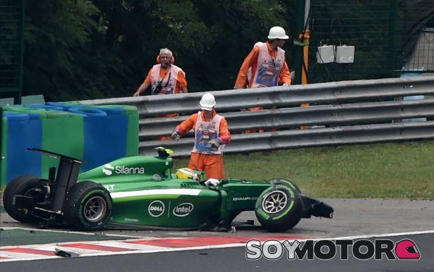 Marcus Ericsson tras su accidente - LaF1