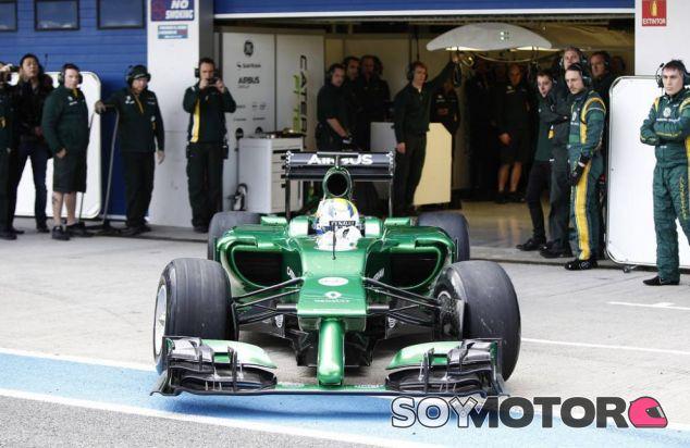 Marcus Ericsson estuvo ayer al volante del CT05 - LaF1