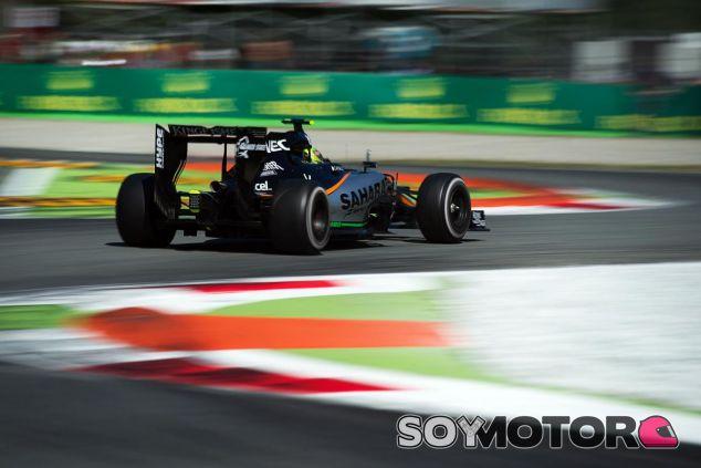 Pérez con el VJM08 B en Monza, donde sumaron sus mejores puntos de la temporada - LaF1
