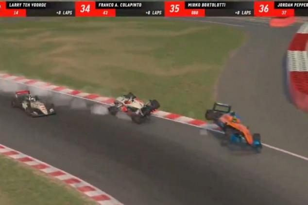 Verstappen y Norris chocan en el mundo virtual; podio de Juncadella - SoyMotor.com
