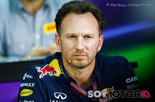 Christian Horner, ayer en la rueda de prensa de la FIA - LaF1