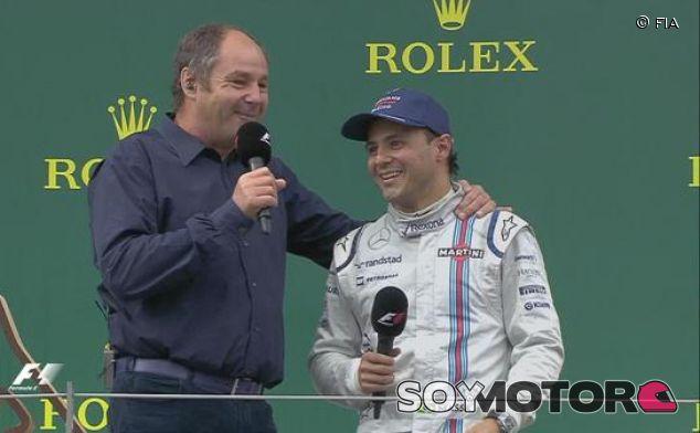 Felipe Massa en el podio de Austria - LaF1.es