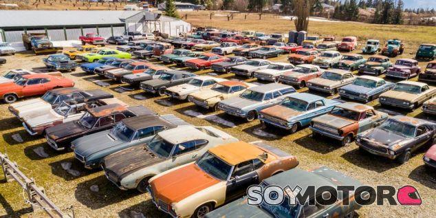 Se vende rancho de 20.000 metros cuadrados con más de 300 coches clásicos de regalo - SoyMotor.com