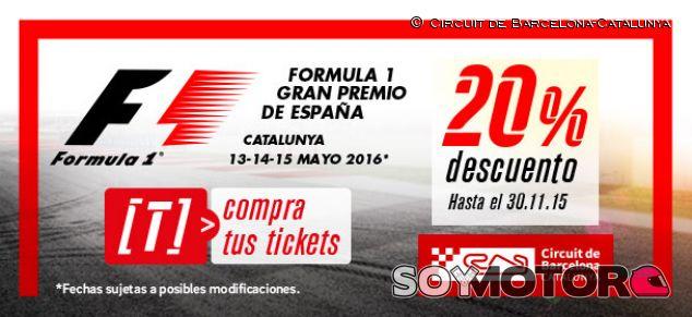 20% de descuento en las entradas del Circuit de Barcelona-Catalunya hasta noviembre - LaF1