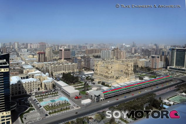 Animación del futuro circuito de Bakú - LaF1