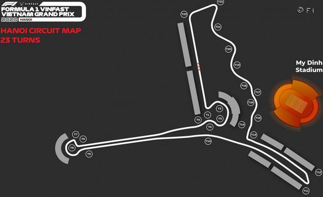 Nuevo plano del circuito de Vietnam con la curva extra añadida - SoyMotor.com