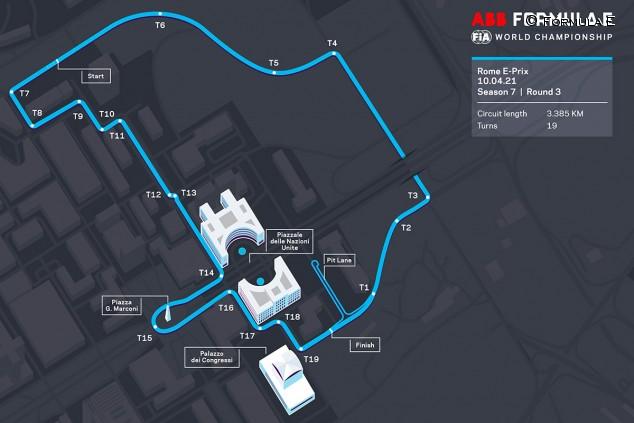 La Fórmula E presenta un nuevo circuito para el ePrix de Roma 2021 - SoyMotor.com