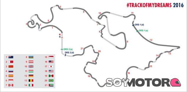 Trazado creado por los fans de Toro Rosso - SoyMotor
