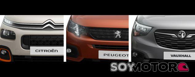 Nuevos frontales de las furgonetas del Grupo PSA - SoyMotor.com