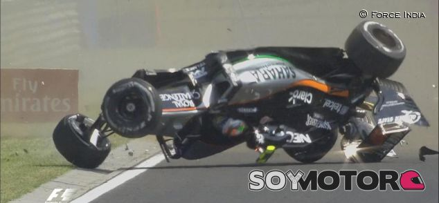Accidente de Sergio Pérez en los Libres 1 - LaF1