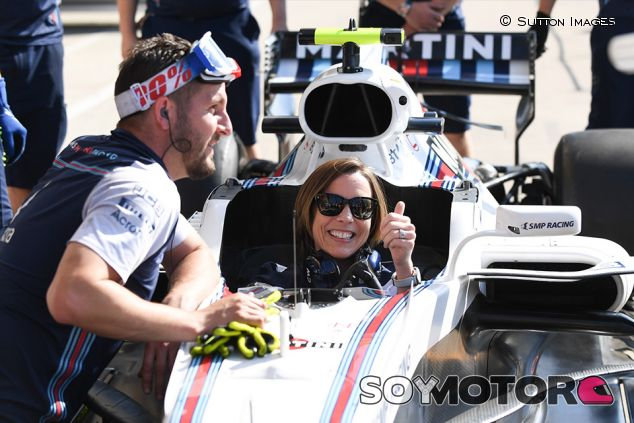 Claire Williams en Silverstone - SoyMotor.com