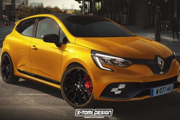 Interpretación de XTomi del futuro Clio RS de quinta generación - SoyMotor.com