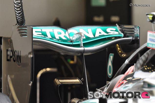 Modificación del alerón trasero de Mercedes - LaF1.es