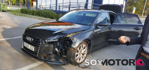 El Audi oficial del President Puigdemont quedó seriamente dañado - SoyMotor.com