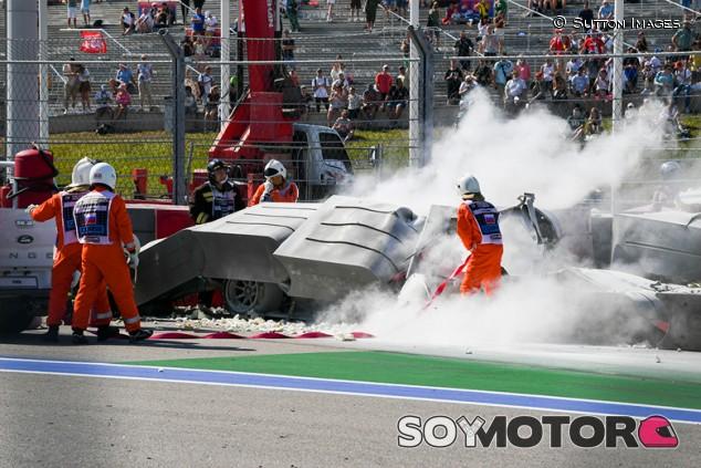 La F1 aplaude la efectividad de las TecPro en el accidente de Ghiotto - SoyMotor.com