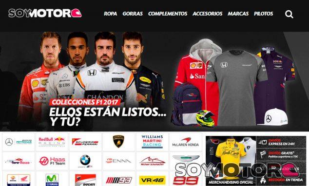 SoyMotor.com lanza su tienda oficial de merchandising F1 - SoyMotor