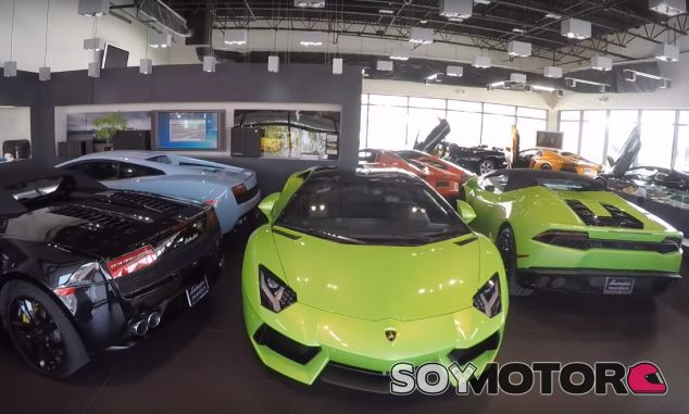 38 Lamborghini y otros 11 deportivos se refugiaron en el concesionario de la marca en Palm Beach - SoyMotor.com