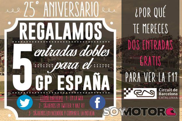 CONCURSO: Gana entradas gratis para ir al GP de España 2015