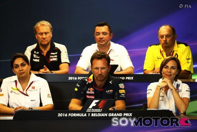 Participantes en la conferencia de prensa del viernes en Spa - LaF1