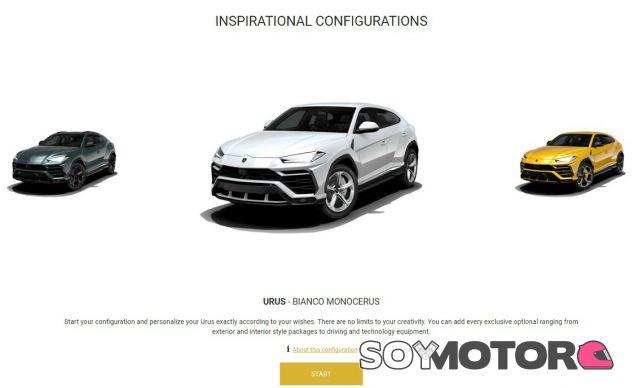 Ya puedes configurar el Lamborghini Urus en la página web de la marca - SoyMotor.com
