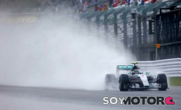 Rosberg bajo la lluvia en Suzuka - LaF1