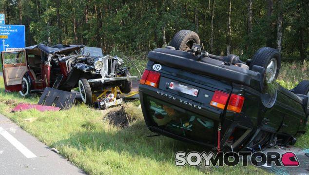 De esta guisa quedó este Rolls Royce accidentado en Holanda - SoyMotor