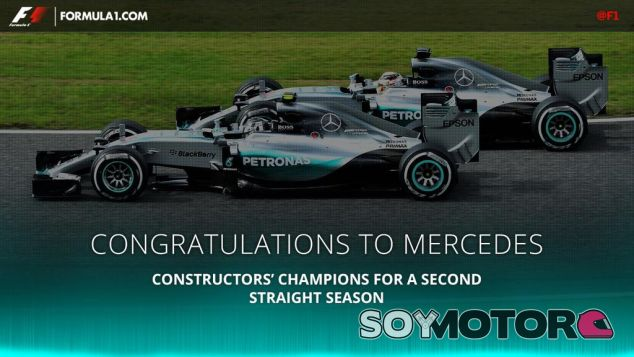 Mercedes se proclama Campeona del Mundo de Constructores 2015 - LaF1