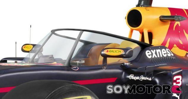 Red Bull opta por usar un panel de un material transparente para mejorar la protección - LaF1