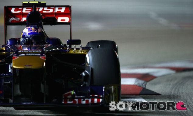 Daniel Ricciardo durante el GP de Singapur con Toro Rosso - LaF1