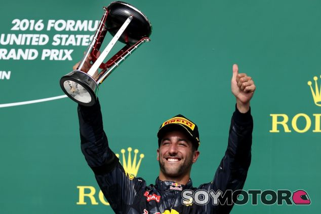 Daniel Ricciardo en el podio de Austin - LaF1