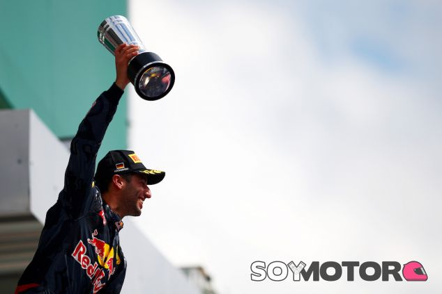 Daniel Ricciardo en el podio de Hockenheim - LaF1