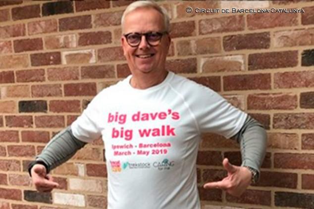 David Last: caminando de Inglaterra al GP de España contra el cáncer - SoyMotor.com
