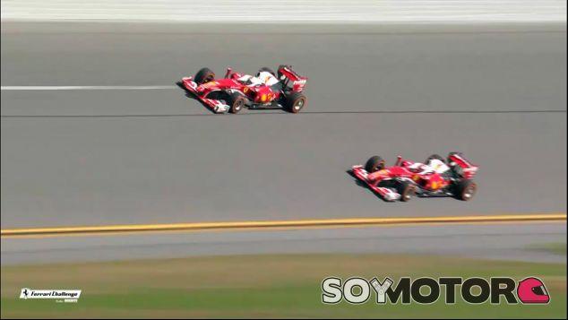 Vettel y Räikkönen en el óvalo de Daytona - LaF1