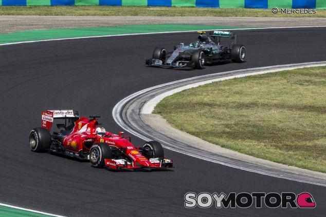 Vettel por delante de Rosberg en Hungaroring - LAF1.es