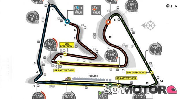 La FIA mantiene las dos zonas de DRS del circuito de Baréin - LaF1