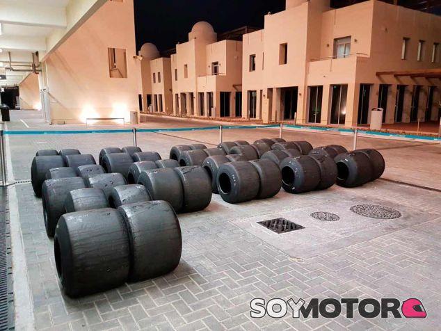 Neumáticos Pirelli en una de las sesiones de test de Abu Dabi - SoyMotor