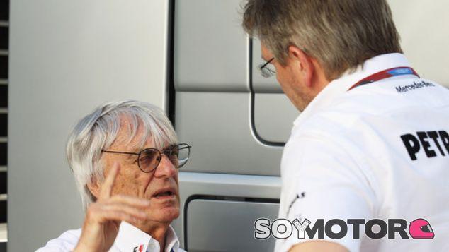 Ecclestone junto a Ross Brawn - LaF1