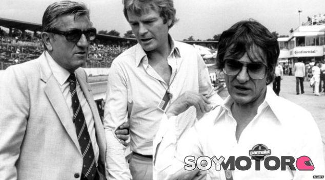 Los expresidentes de la FIA Jean-Marie Balestre y Max Mosley, y Bernie Ecclestone - SoyMotor