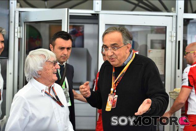 Bernie Ecclestone y Sergio Marchionne en Canadá - SoyMotor.com