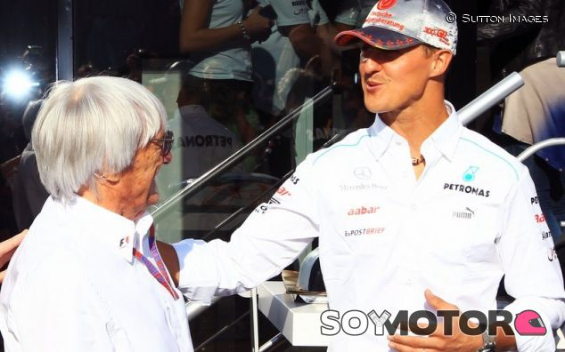Bernie Ecclestone con Michael Schumacher - LaF1
