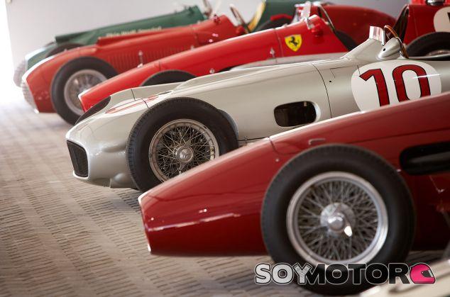 Thin Wall Special, Ferrari 375, Ferrari 555 Supersqualo, Mercedes W196 y Maserati 250F