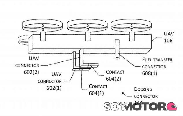 Amazon patenta un drone para cargar coches eléctricos en movimiento - SoyMotor.com