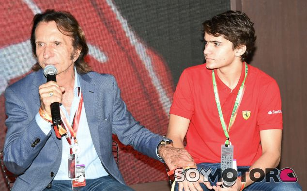 Emerson y Pietro Fittipaldi durante el GP de Brasil 2015 - SoyMotor