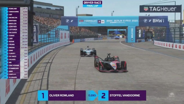 Rowland vence en el ePrix virtual de Berlín de Fórmula E - SoyMotor.com