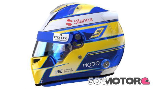 Marcus Ericsson estrena casco en 2017 - SoyMotor