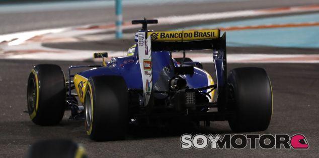 Ericsson, durante la carrera en Abu Dabi - LaF1